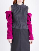 Calvin Klein Cold shoulder chunky-knit jumper