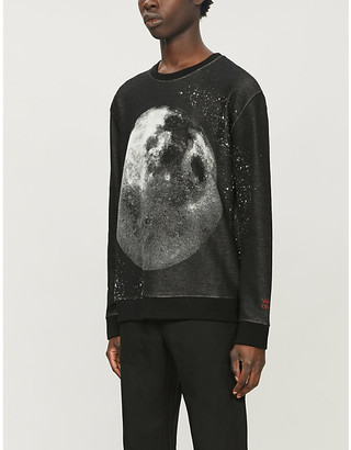 Valentino Moon Dust graphic-print cotton-jersey sweatshirt