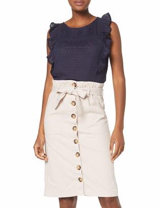 New Look Women's Ellie Ecru Paperbag Skirt