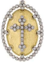 Jude Frances Diamond Provence Champagne Oval Bezel Cross Pendant