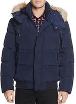Andrew Marc Cedar Fur-Trimmed Hooded Bomber Jacket