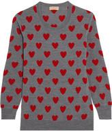Burberry Intarsia Wool Sweater - Gray