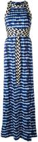 Tory Burch tie dye maxi dress - women - Cotton/Polyamide/Spandex/Elastane/Viscose - XS