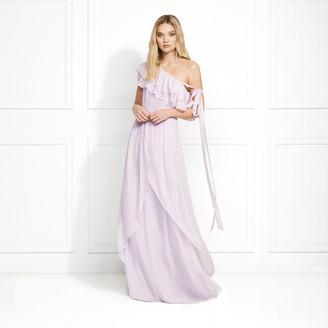 Rachel Zoe Susanna One Shoulder Ruffled Maxi Gown