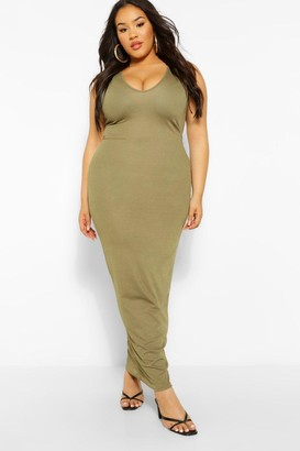 boohoo Plus V Front Maxi Dress
