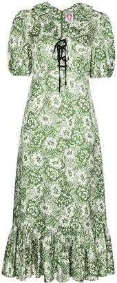 Shrimps Oakley floral-print silk midi dress