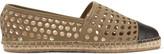 Loeffler Randall Mara perforated leather espadrilles