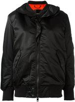Diesel ruffle trim bomber jacket - women - Polyamide/Polyester/Spandex/Elastane - S