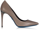Loriblu Dove Grey Leather Pointed Pump