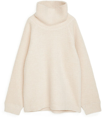Arket Funnel Neck Pile Jumper