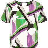 River Island Womens Purple print t-shirt