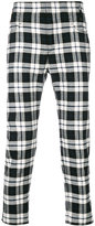 Haider Ackermann cropped checked trousers