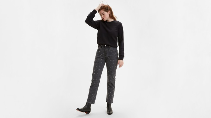 Levi's 501 Original Cropped Studded Women's Jeans