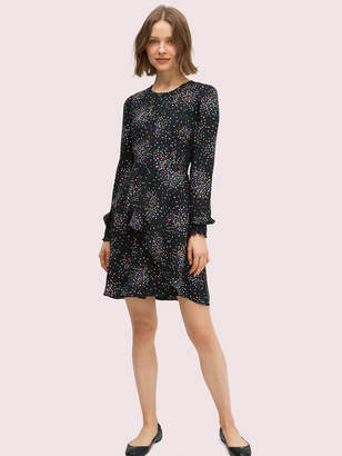 Kate Spade confetti cheer smocked dress