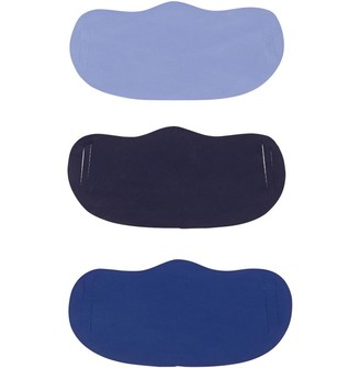 Mandmdirect.Com Three Pack Face Masks Cornflower Blue/Navy/Cobalt Blue