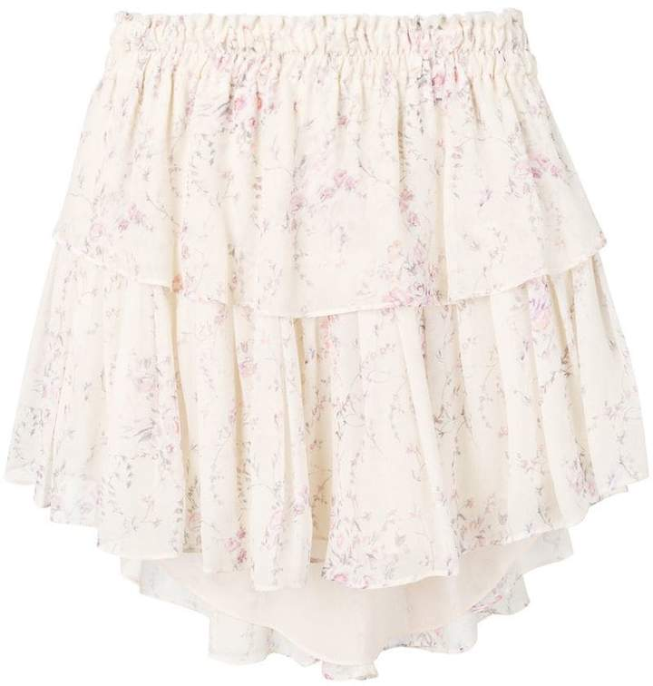 LoveShackFancy Love Shack Fancy ruffled mini skirt