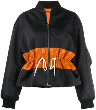 Givenchy contrast band bomber jacket