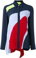 Versace colourblock shirt - women - Silk - 40