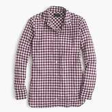 J.Crew Petite relaxed boy shirt in crinkle gingham