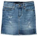 Joe's Jeans Mid Rise Stretch Denim Mini Skirt (Big Girls)