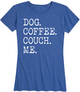 Instant Message Women's Women's Tee Shirts HEATHER - Heather Royal Blue 'Dog Coffee Couch Me' Relaxed-Fit Tee - Women