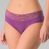 PACT Organic® Super Soft Cotton Women's Lace Waist Hipster 2pk