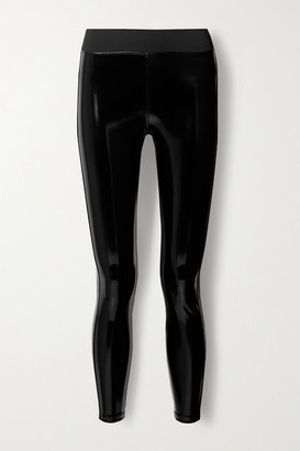 Heroine Sport Downtown Coated Stretch Leggings - Black