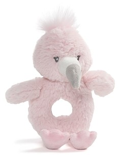 Gund Flamingo Ring Rattle - Ages 0+