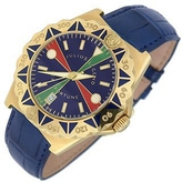 Julius Legend Sea Fortune - 18K Gold and Leather Watch