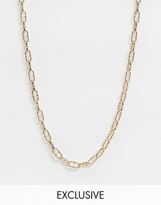 Vero Moda exclusive chain necklace with t bar in gold