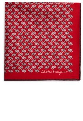 Salvatore Ferragamo Milord Silk Pocket Square
