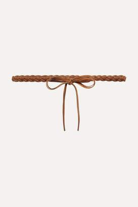 Isabel Marant Darla Braided Leather Waist Belt - Tan