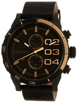 Diesel Men&s Double Down Chronograph Leather Watch