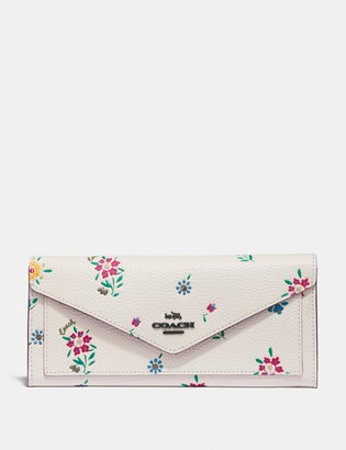 Coach Soft Wallet With Wildflower Print
