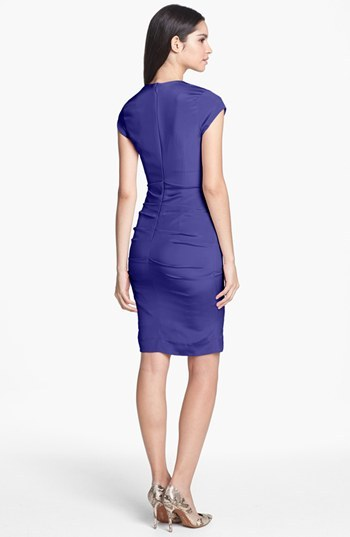 Nicole Miller 'Felicity' Ruched Sheath Dress