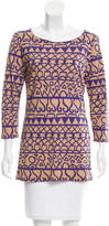 Salvatore Ferragamo Long Sleeve Printed Top