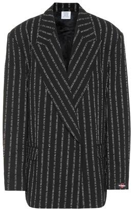 Vetements Stretch-twill blazer