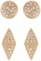 Melinda Maria Hunter Pave CZ Stud Earrings Set