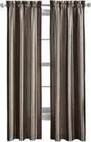 Asstd National Brand Faux-Silk Stripe Rod-Pocket Curtain Panel