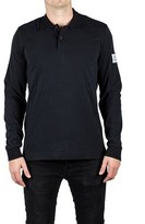 Moncler Men's Gamme Bleu Cotton Long Sleeve Polo Shirt Black.