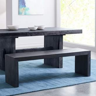 "west elm Emmerson® Reclaimed Wood Dining Bench (58"") - Ink Black"