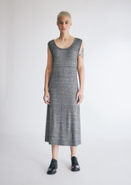 MM6 MAISON MARGIELA Women's Cross Back Dress in Heather Black, Size Extra Small