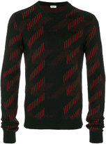 Saint Laurent geometric pattern sweater - men - Nylon/Mohair/Wool - S