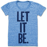 Print Liberation Let It Be Tee Women's Blue