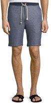 Sol Angeles Denim-Look Sweat Shorts