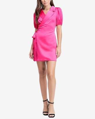 Express Emory Park Short Sleeve Wrap Mini Dress