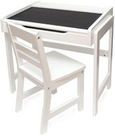 Lipper Chalkboard-Top Desk & Chair Set in White