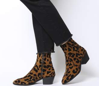Office Auburn High Cut Unlined Boots Leopard Flocked Suede