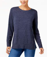 Style&Co. Style & Co Cotton Crew-Neck Sweater, Created for Macy's