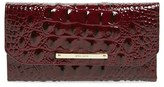 Brahmin Croc Embossed Checkbook Wallet